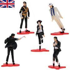 "5 X King Of Pop Michael Jackson 4"" Figures 5 Pose Figurines Set Doll Statue UK"