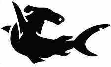 HAMMERHEAD SHARK marine grade decal sticker.Fish boat,aluminium tinny,kayak,car