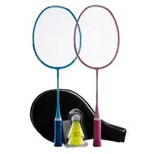 Decathlon Australia - KID BADMINTON RACKET SET STARTER BLUE PINK