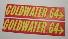 """Bumper Sticker """"GOLDWATER '64"""" - VINTAGE POLITICAL CAMPAIGN 2 QTY. NEW DELIVERED"""