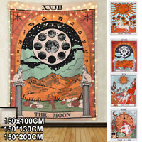 Large Tarot Flag Tapestry Wall Hanging Magical Moon Sun Tapestries Room Decor