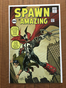 Spawn #221, 1st Print Amazing Fantasy Spider-Man homage Cover VF/NM Condition