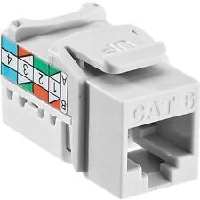 50 Pk Leviton White 8 Wire Cat-6 Phone Internet Connector Jack 122-61110-RW6