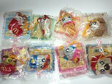 !RARE! 2003 McDonald's Hamtaro Keychain Plush Toys Complete Set