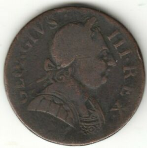 USA COLONIAL HALF-PENNY 1774 MACHIN'S MILL group 1 ?. AUCTION STARTS AT £1