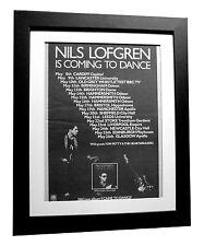 NILS LOFGREN+I Came To Dance+POSTER+AD+ORIGINAL 1977+FRAMED+EXPRESS GLOBAL SHIP