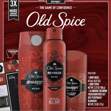 Old Spice Swagger Body Wash Body Spray Anti-Perspirant Deodorant Set  New in Box