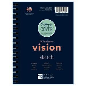DIXON TICONDEROGA/STRATHM 65755 VISION SKETCH PAD WIRE BOUND 50LB 110SH 5.5X8.5