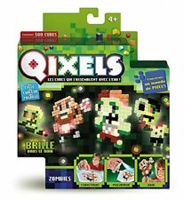 Qixels - Kk87023 - Mini Kit 4 Créations - Glow in the D