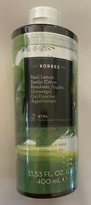 Korres BASIL LEMON Shower Gel Foam Bath Gel Body Wash Cleanser Soap 13.53 oz