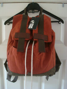 **50% OFF!!** YOUR TURN Backpack / 100% Cotton / Leather Trim / RRP £25 / Superb