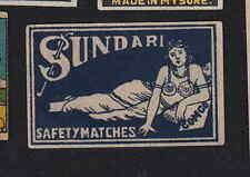 Ancienne étiquettes allumettes  Inde   BN6832 Sundari Femme