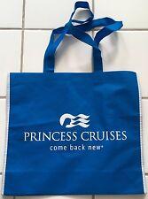"Princess Cruise Line Blue Eco ""Come Back New"" Shopping Tote book Beach bag"