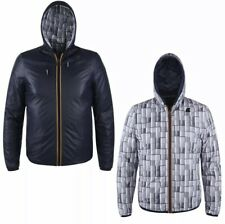 K-WAY Mens Jacques Kl Air Padded Double Leather Jacket Reversible Size Large