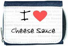 I Love Heart Cheese Sauce Denim Wallet