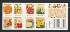 4763b Vintage Seed Packets Booklet of 20 with #4754-4763 Garden Flowers