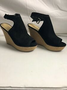 Marc Fisher Peep Toe Platform Wedges size 8 1/2