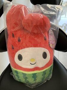 "Squishmallow Sanrio - My Melody Watermelon 12"" Plush Toy NEW"