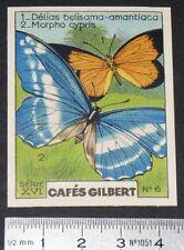 CHROMO 1936 CAFES GILBERT PAPILLONS BUTTERFLY DELIAS BELISAMA MORPHO CYPRIS