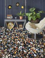 3D Small Pebbles 453 Floor WallPaper Murals Wall Print Decal UK Zoe