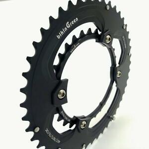 bikinGreen CNC Chainring 46/30T FoR Shimano 4 Arm 10-11Spd Road Cyclocross Tour