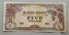 5 dollars Malaya Japan Occupation note # 81