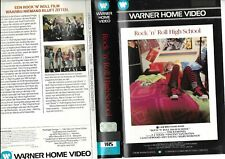 "VHS RARE:""ROCK N ROLL HIGH SCHOOL"" FILM TOUS PUBLICS EDITIONS WARNER"