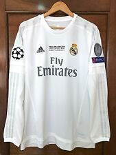 Adidas Real Madrid Ronaldo 2015-2016 UEFA Champions League Final Milan jersey L