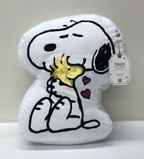 NEW Pottery Barn TEEN Peanuts Snoopy & Woodstock Best Friend Pillow