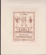 ex-libris francisco figueiredo de macedo (eugenio sousa)