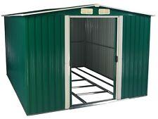 Gerätehaus grün/weiß, 2050 x 2570 x 1775, Gartenschuppen Metall, Schuppen