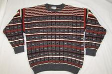 Vtg Far Horizons Black Opal Collection Wool Sweater Made in New Zealand L Mens