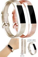 Bands For Fitbit Alta/Fitbit Alta HR (2 PACK) A#Champagne Gold/Rose Gold Small
