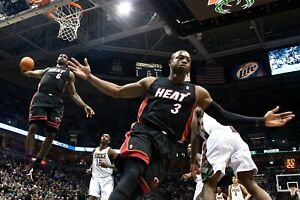 Lebron James & Dwyane Wade Alley Oop Miami Heat Poster (24x36) inches