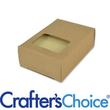 100 Crafter's Choice Kraft Rectangle Window Soap Box - Homemade Soap Packaging