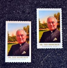 2017USA Forever - Father Ted Hesburgh - Set of 2 Singles From Sheet & Coil  Mint