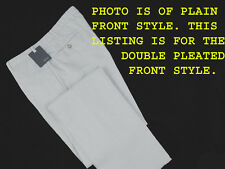 NEW! Incotex Chino Lino Linen & Cotton Pants (Slacks)! 34 (32) *Double Pleated*