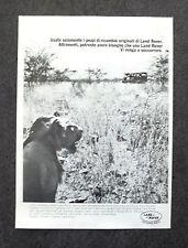 G132-Advertising Pubblicità - 1982 - LAND ROVER  RICAMBI ORIGINALI