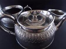 Design elegante ANTICO SILVER PLATE TEASET servizio da tè teiera zuccheriera bricco latte