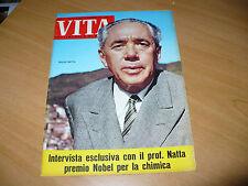 RIVISTA VITA SETTIMANALE DI NOTIZIE N.240 1963 GIULIO NATTA BIENNALE ARTE PARIGI