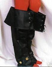 Boot cuffs black For Costume Musketeer Pirate Middle Ages Larp Vampire NEW