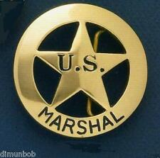 U.S.Marshall Badge Belt Buckle (Brass)