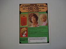 advertising Pubblicità 1971 PARRUCCHE DELLE DIVE - MAGIC RECORD