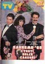 TV Sorrisi e Canzoni n 8 del 1989 Solenghi,Marchesini,Lopez,Bertè,Borg,Salerno..
