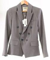 L'Agence NWT Blazer Size 2 in Grey with White Pinstripes $595