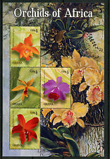 Ghana 2014 MNH Orchids of Africa 4v M/S II Flowers Flora Moth Boat Orchids