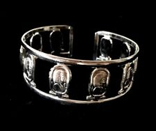 Ancient Egyptian Cuff Bracelet Sacred King Tutankhamun Silver plated Hand made