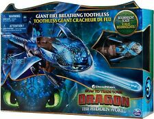 """Giant Fire Breathing Toothless, 20"""" Dragon with Fire Breathing Effects"""