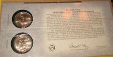 1853-1857 P&D Franklin Pierce $1 Coin on Display Card 14th President