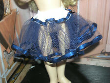 "Navy Nylon Net Slip Petticoat Crinoline 14"" Doll clothes fits Ideal Toni P-90"